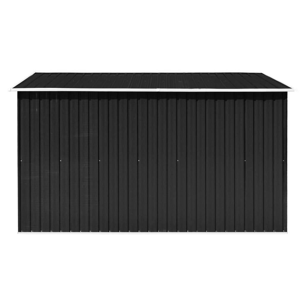 Festnight Caseta de Jardín de Metal para Almacenamiento de Herramientas con 4 Ventilaciones Antracita 257x298x178 cm: Amazon.es: Hogar