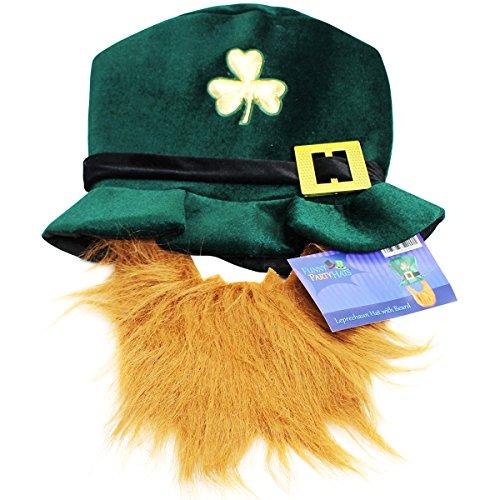 St Patrick's Day Costume Leprechaun Hat And Orange Beard - Leprechaun Hat And Orange Beard For St. Patrick's Day (Leprechaun Womens Costume)