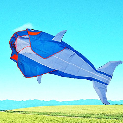 Go Fly A Kite Kites - Lets Go Fly a Kite! 3D Big Whale Frameless Parafoil Kite Outdoor Beach Park Garden Fun by L.W.