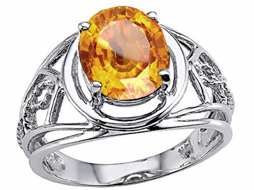 Oval 10x8 mm Genuine Large Citrine Ring 14kt Size (Genuine Large Citrine Ring)