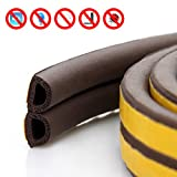 2-Pack Door Window Anti-Collision Self Adhesive Rubber Weatherproof Seal for Cracks and Gaps (Brown 5.5 Yards)