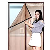 GONGFF Velcro Mosquito Repellent Curtain, Magnetic Soft Screen Door, Summer Screen Window, Sand Door, Bedroom Anti Fly Ventilation, No Perforation Partition Curtain,#1,120200Cm