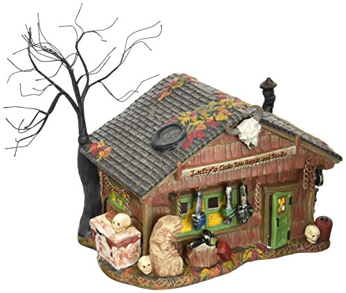 Department 56 Village Halloween Lefty's Chain Saw Repair Shop Lit House ()