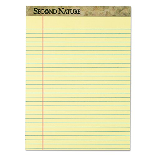 TOPS 74890 Second Nature Recycled Pads, 8 1/2 x 11 3/4, Canary, 50 Sheets (Pack of (Recycled Writing Pads)