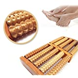 Yosoo Wooden Acupressure Roller Foot Feet Massager Rollers Stress Relief Increasing Blood Circulation Massage Spa