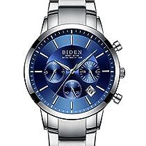 腕時計、メンズ腕時計、クラシックな豪華なデザイン クステンレ...
