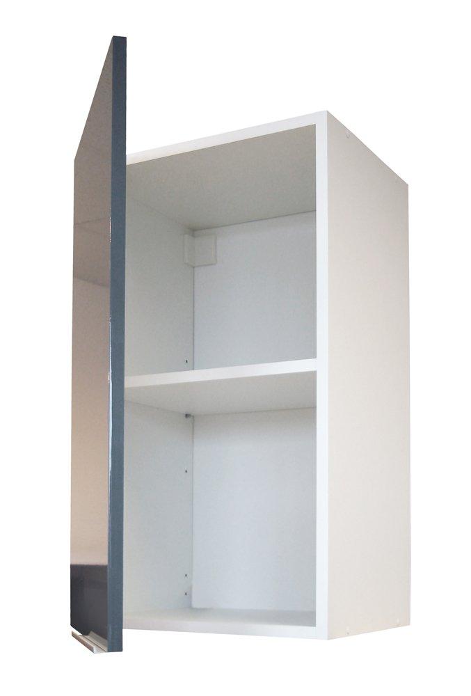 Berlenus CP3HG - Mueble Alto de Cocina (1 Puerta, 30 cm), Color Gris Brillante