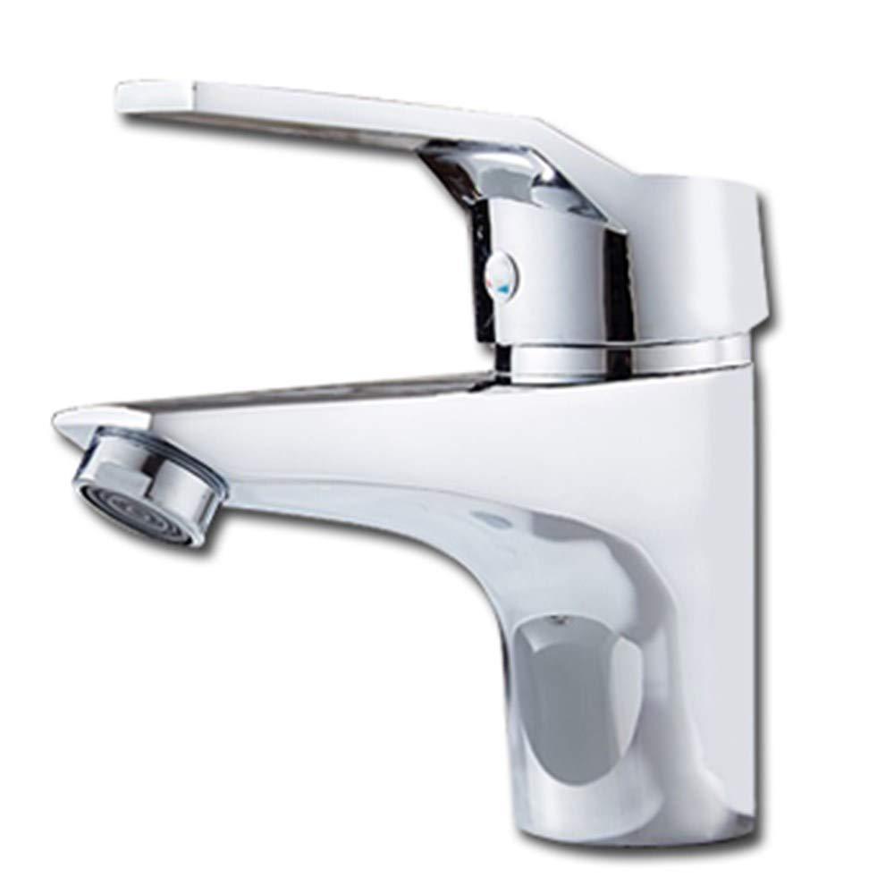 Joeyhome Bad Becken Wasserhahn Waschbecken Wasserhahn Mischer Chrom Kalt- und Warmwasser Waschbecken Wasserhahn, ohne Rohr