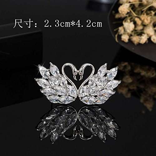 Cardigan sweater brooch Swan luxurious atmosphere Mandarin jacket assembly accessories jewelry brooch ()