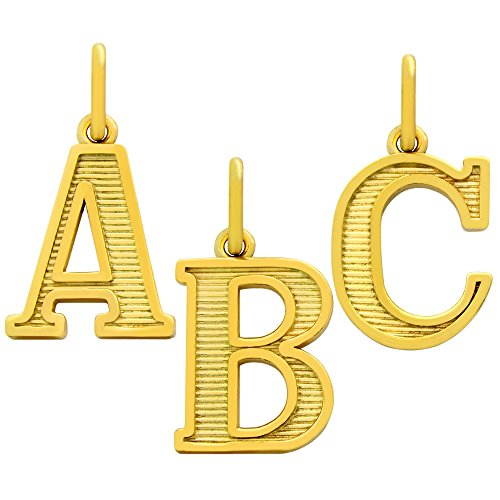 Yellow Gold-Tone Plated 925 Sterling Silver Initial