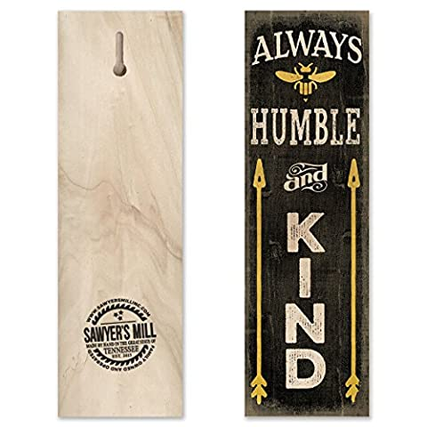 Always Be Humble & Kind - Handmade Wood Block Sign with Saying Inspired by Tim McGraw Features a Bumble Bee for Home Wall - Sign Blocks Decor