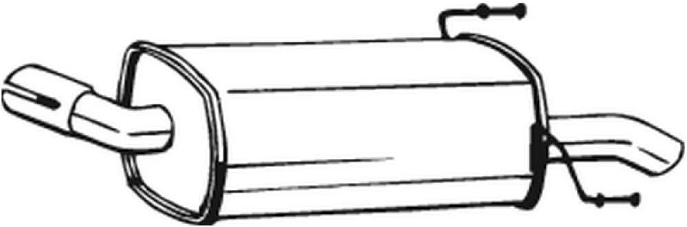 Bosal 185 131 Endschalldämpfer Auto