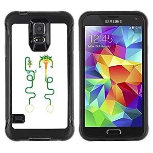 """Hypernova Defender Series TPU protection Cas Case Coque pour Samsung Galaxy S5 V [Dragón del arte divertido del personaje""""]"""