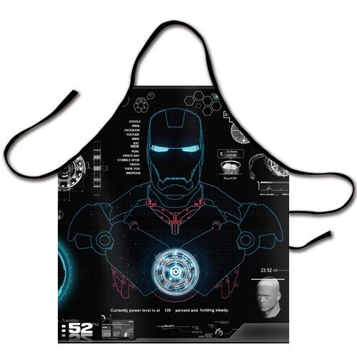 Chiho Superhero Iron Man Logo Chef Kitchen Bib Apron