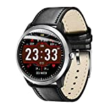 OOLIFENG IP67 Waterproof Smart Watch, Activity Tracker Watch and Blood Pressure + Heart Rate Monitor, Fitness Tracker Wristband with Pedometer for iPhone Android,Black