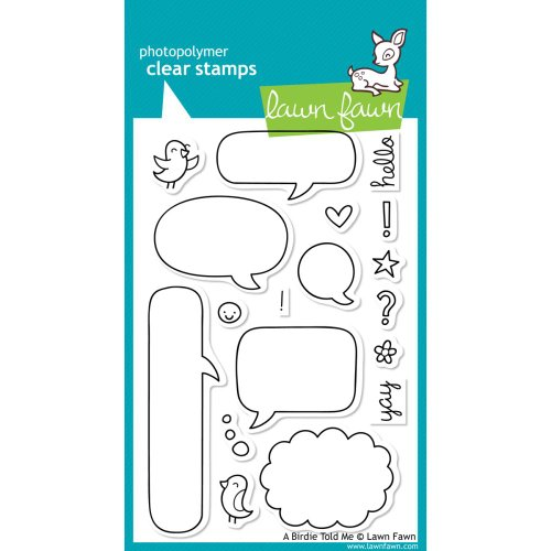 Lawn Fawn - Clear Acrylic Stamps - A Birdie Told Me (Acrylic Lawn Stamps Fawn)