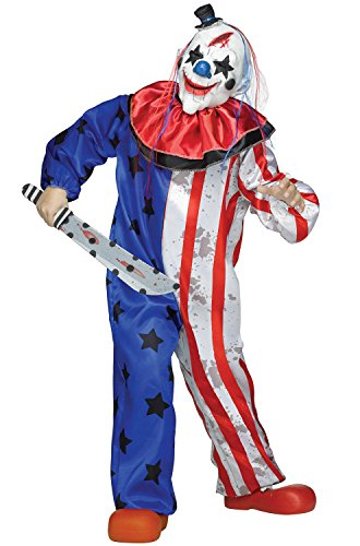 Cool Clown Costume (Fun World Kid's Lrg/Evil Clown Chld Cstm Childrens Costume, Multi,)