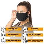 3er-Pack-Mundschutz-Maske-100-BIO-Baumwolle-waschbar-bis-90C-bgelbar-OEKO-TEX-100-Standard-Einheitsgre-fr-Erwachsene-wiederverwendbare-Behelfs-Maske-Mund-und-Nasenschutz-in-schwarz