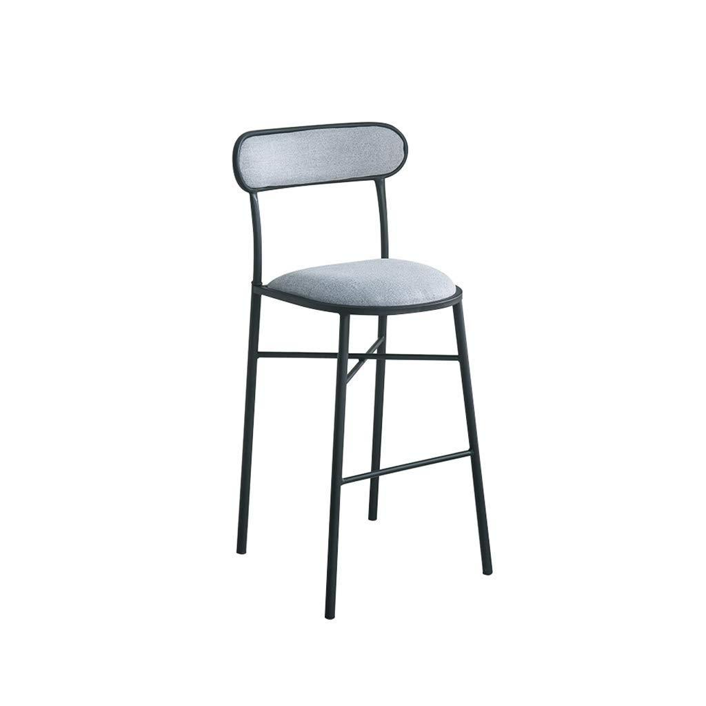 F 75cm Bar Stool, Wrought Iron Bar Chair, Jinjia High Stool, Modern Dining Chair, Firewood Stool, Creative Chair (color   G, Size   75cm)