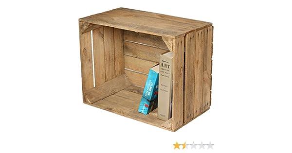 Caja de fruta para decoración (madera), diseño de mesita o estante: Amazon.es: Hogar