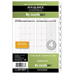 Day Runner Monthly Planner Refill 2017, Loose Leaf, 5-1/2 x 8-1/2\