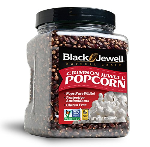 Black Jewell Crimson Hulless Popcorn Kernels 28.35 Ounces (Pack of 1)