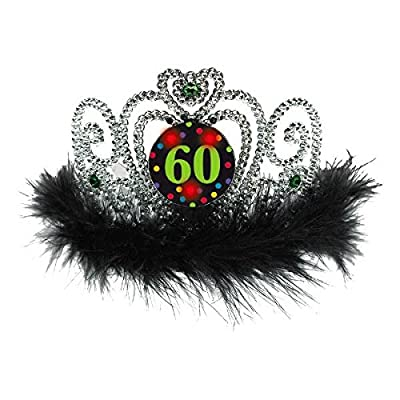60th Birthday Flashing Tiara: Toys & Games