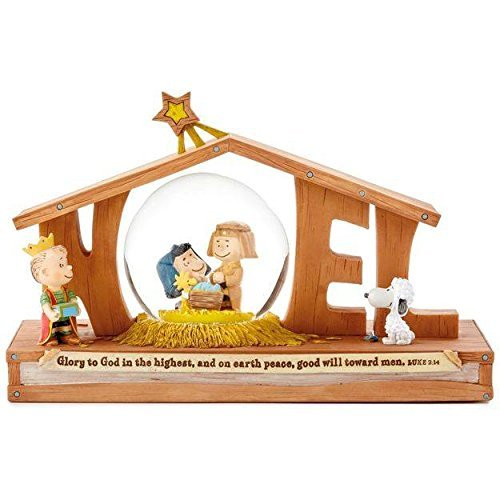 Nativity Scene Snowglobe (Hallmark Christmas - Peanuts Noel Nativity Snow Globe)