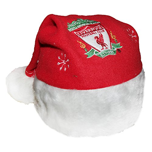 Liverpool FC Novelty Christmas Santa Hat (One Size) (Red)
