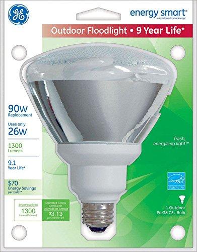 GE Energy Smart 26 Watts PAR38 5.6 in. Soft White CFL Bulb 1300 Lumens 1 pk Floodlight