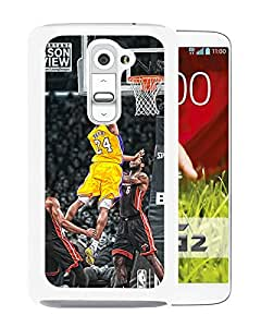 Fashionable Custom Designed Skin Case For LG G2 With kobe bryant dunks White Phone Case