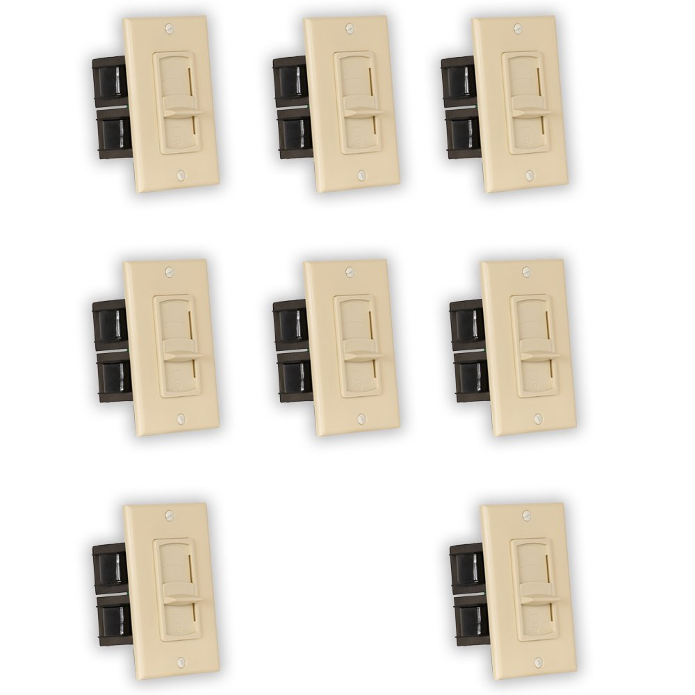 Theater Solutions TSVCS-I Indoor Speaker Volume Controls Ivory Slide Audio Switches 8 Piece Pack by Theater Solutions