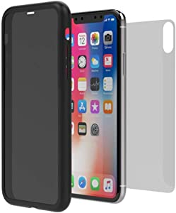 Pixelro iPhone XR Case Privacy Safeguard Protective Case Cover for Apple iPhone XR iPhone xr case with Privacy Screen Protector Built in Privacy Screen Protector + 1 Rear Tempered Glass(Black)