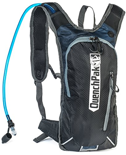 BEST HYDRATION PACK 2017, Mountain biking backpack, Running, Trails, Hiking, holds 2.0 L water, Perfect for Men, Women, Kids, fully adjustable and comfortable