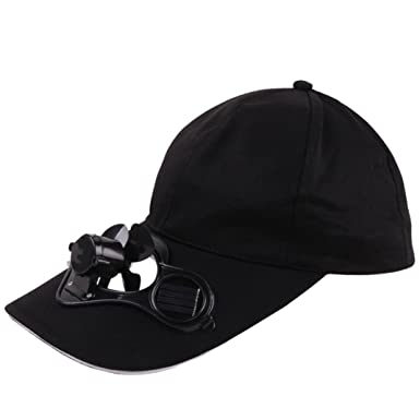 f0585a3a4 YUYOUG Camping Traveling Hiking Peaked Cap with Solar Powered Air ...