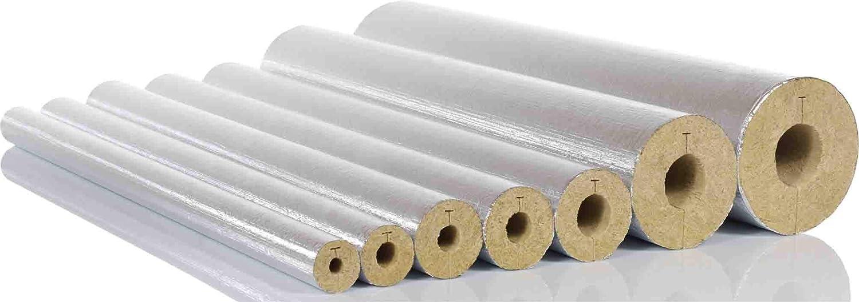 WLG 038 mti Steinwollerohrschale RG90 alukaschiert 42//20 1 Karton 20 m Steinwoll-Rohrschale Mineralwolle Rohrisolierung Dimension 42 x 20 mm F/ür 1 1//4 Rohrleitungen Isolierung D/ämmung
