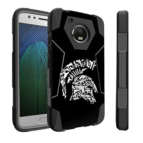 Untouchble Case for Motorola Moto E4 Case, Moto E4 (US Version) Case [Traveler Series] Combat Shockproof Two Layer Kickstand Cover - Spartan -