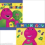 Barney and Friends Invitations and Thank You Notes w/ Envelopes (8ct ea.)