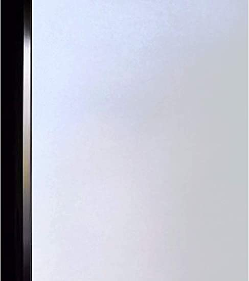 DUOFIRE Privacy Window Film Frosted Glass Film Matte White Static Cling Glass Film No Glue Anti-UV Window Sticker Non Adhesive for Privacy Office Meeting Room Bathroom Living Room 47.2in. x 157.4in.