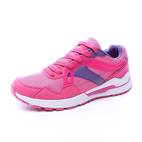 da donna Rose Xiaojuan Scarpe donna Color e da casual shoes sportive Red da 35 Nero Dimensione EU uomo qCaawYHx