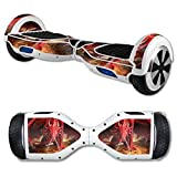 MightySkins Protective Vinyl Skin Decal for Hover Board Self Balancing Scooter mini 2 wheel x1 razor wrap cover Angry Dragon