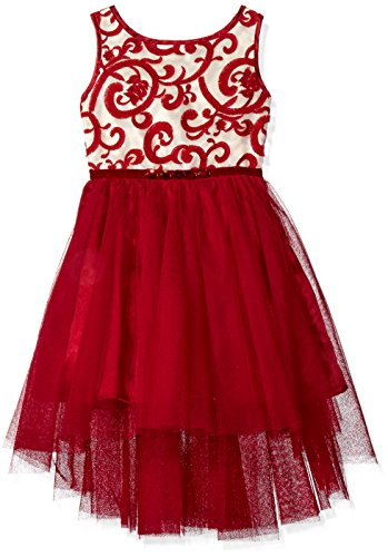 Biscotti Big Girls' Baroque Beauty Hi Lo Dress, Ivory/Red, 14 by Biscotti
