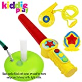 Kiddie Play Traffic Light Toy for Kids Cars and Bikes with Real Lights and Sounds Including Traffic Wand, Whistle and Badge