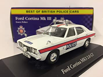 ATLAS EDITIONS 1//43 BEST OF BRITISH POLICE CARS FORD ZEPHYR MK2 LANCASHIRE CAR