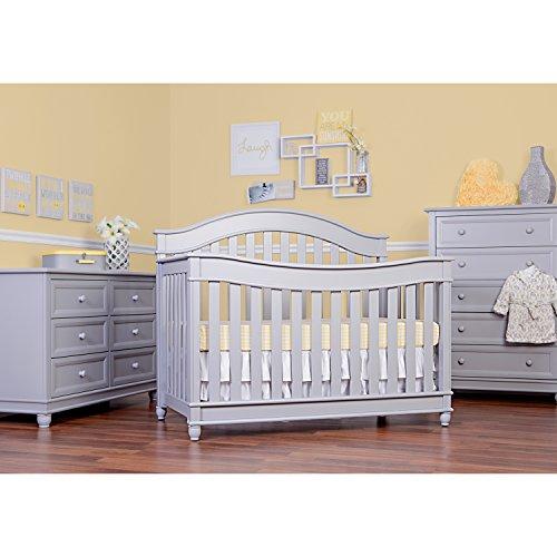 Evolur Hampton  5 in 1 LifeStyle Convertible Crib in Pebble Grey