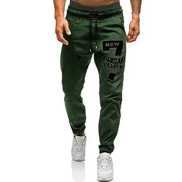 Dreamyth- Pantalones de Deporte para Hombre con Bolsillos ...