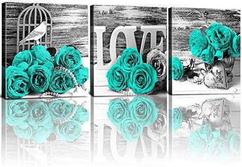 YOOOAHU Turquoise Pictures Bathroom Decoration product image