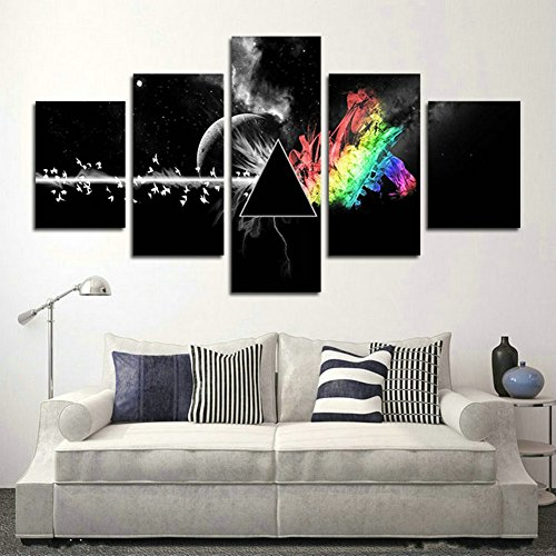 SwmArt Piece printed Pink Floyd rock music canvas painting for living room home decor Canvas art wall poster(50