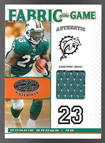 2007 Leaf Certified Materials Fabric Of The Game #80 Ronnie Brown Jersey #34/40