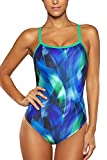 Vegatos Womens One Piece Bathing Suits Flyback Swimsuit Sports Swimwear M